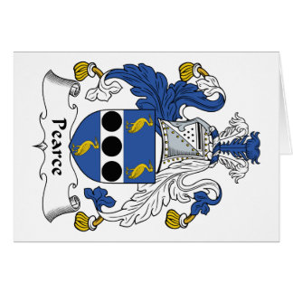 Escudo de la familia de Pearce Tarjetón