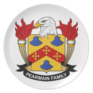 Escudo de la familia de Pearmain Platos Para Fiestas