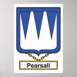 Escudo de la familia de Pearsall Póster