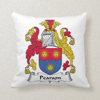 Escudo de la familia de Pearson Cojines