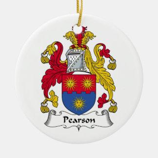 Escudo de la familia de Pearson Adorno Redondo De Cerámica