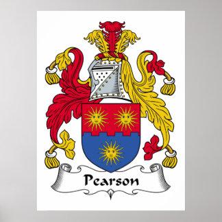 Escudo de la familia de Pearson Impresiones