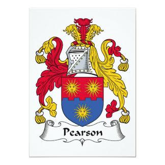 Escudo de la familia de Pearson Invitación 12,7 X 17,8 Cm