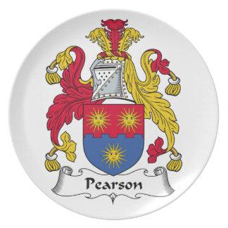 Escudo de la familia de Pearson Plato De Comida