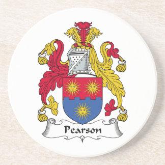 Escudo de la familia de Pearson Posavasos Diseño