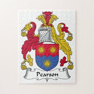 Escudo de la familia de Pearson Rompecabeza Con Fotos