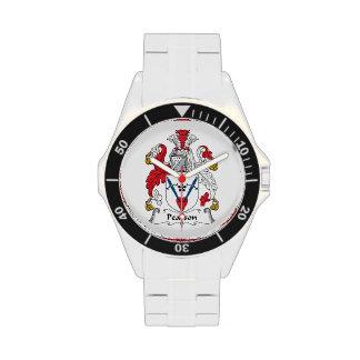 Escudo de la familia de Pearson Reloj