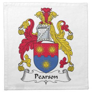 Escudo de la familia de Pearson Servilleta