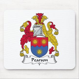 Escudo de la familia de Pearson Tapete De Raton