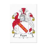 Escudo de la familia de Peart Impresión En Lona
