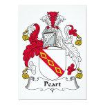 Escudo de la familia de Peart Invitación 12,7 X 17,8 Cm