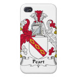 Escudo de la familia de Peart iPhone 4/4S Carcasas