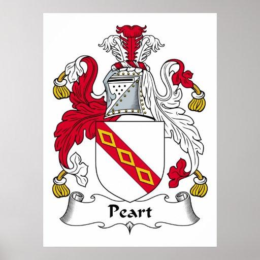 Escudo de la familia de Peart Posters