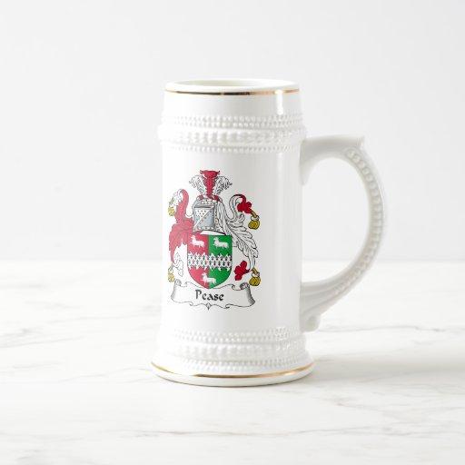 Escudo de la familia de Pease Jarra De Cerveza
