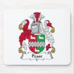 Escudo de la familia de Pease Alfombrillas De Ratones