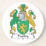 Escudo de la familia de Peasley Posavasos Personalizados