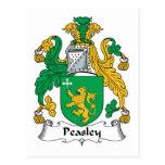 Escudo de la familia de Peasley Tarjeta Postal