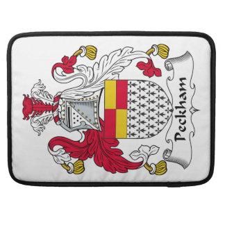 Escudo de la familia de Peckham Fundas Para Macbooks