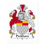Escudo de la familia de Peckham Postales