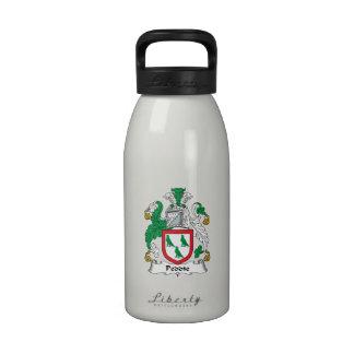 Escudo de la familia de Peddie Botella De Agua Reutilizable