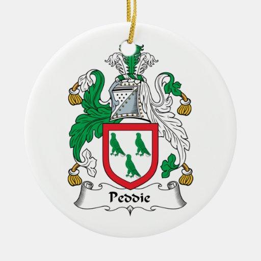 Escudo de la familia de Peddie Ornamentos De Navidad