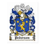 Escudo de la familia de Pederson Postal