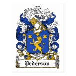 Escudo de la familia de Pederson Tarjeta Postal