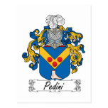 Escudo de la familia de Pedini Postal