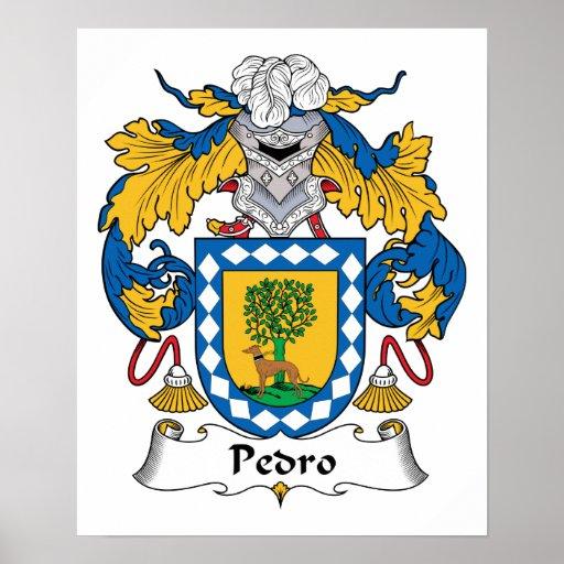 Escudo de la familia de Pedro Posters