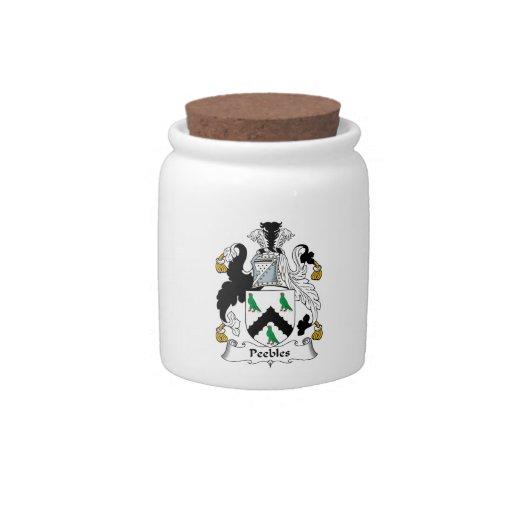 Escudo de la familia de Peebles Platos Para Caramelos