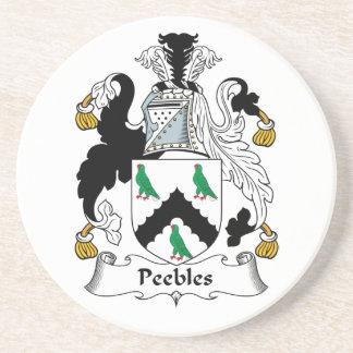Escudo de la familia de Peebles Posavasos Diseño