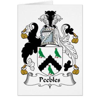 Escudo de la familia de Peebles Tarjeta De Felicitación