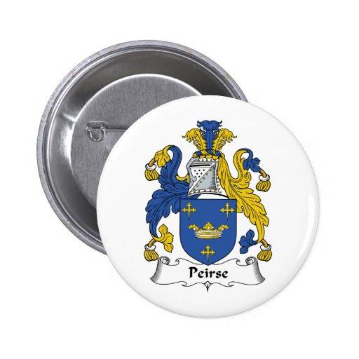 Escudo de la familia de Peirse Pin Redondo 5 Cm