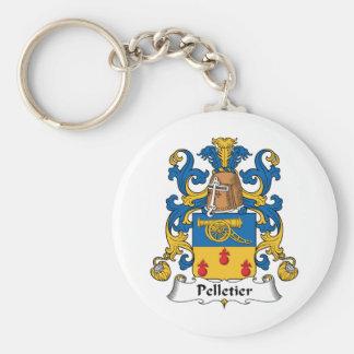 Escudo de la familia de Pelletier Llavero Redondo Tipo Pin
