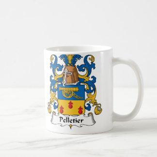 Escudo de la familia de Pelletier Taza Clásica