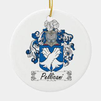 Escudo de la familia de Pellicani Ornamento Para Arbol De Navidad