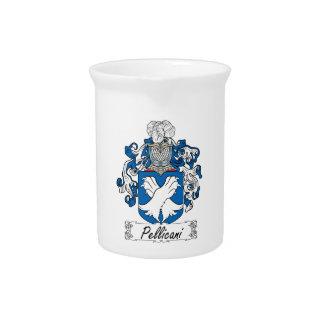Escudo de la familia de Pellicani Jarra Para Bebida