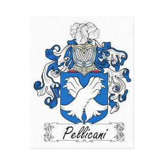 Escudo de la familia de Pellicani Lona Envuelta Para Galerías