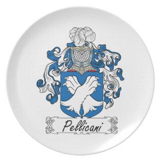 Escudo de la familia de Pellicani Platos