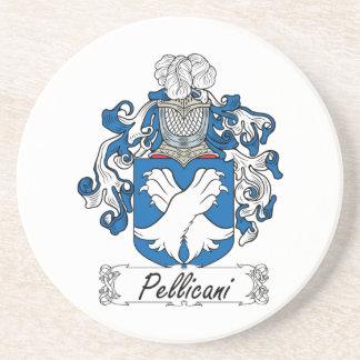 Escudo de la familia de Pellicani Posavaso Para Bebida