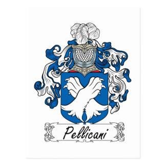 Escudo de la familia de Pellicani Postal