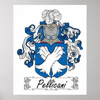 Escudo de la familia de Pellicani Posters