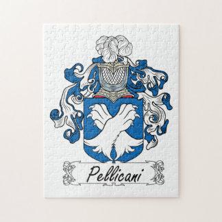 Escudo de la familia de Pellicani Rompecabeza Con Fotos