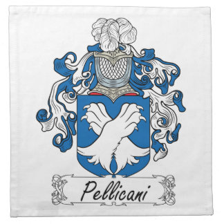 Escudo de la familia de Pellicani Servilleta Imprimida