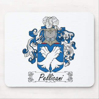 Escudo de la familia de Pellicani Tapetes De Ratones