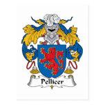 Escudo de la familia de Pellicer Postal
