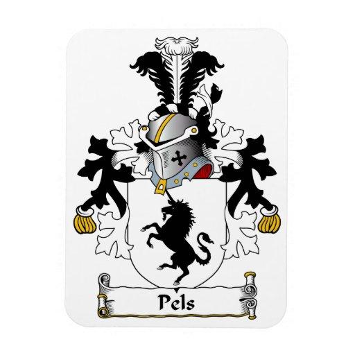 Escudo de la familia de Pels Imán Foto Rectangular