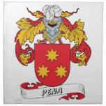 Escudo de la familia de Pena Servilleta Imprimida