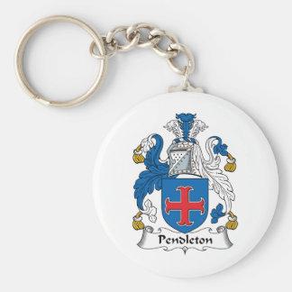 Escudo de la familia de Pendleton Llavero Personalizado