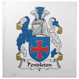 Escudo de la familia de Pendleton Servilletas